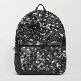Gray Black Night Glitter #1 #shiny #decor #art #society6 Backpack