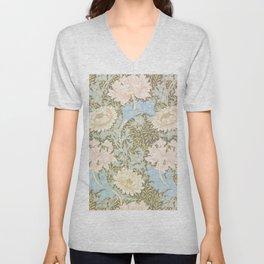 """William Morris """"Chrysanthemum"""" 1. Unisex V-Neck"""
