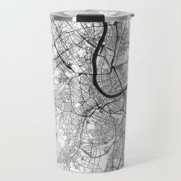 Basel Map Gray Travel Mug