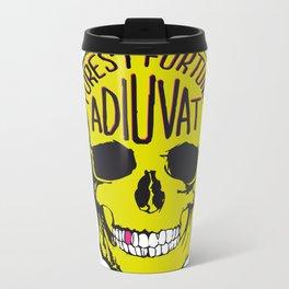 Fortune Favours The Brave. Metal Travel Mug