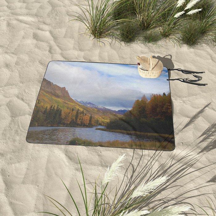 Matanuska River Alaska Picnic Blanket