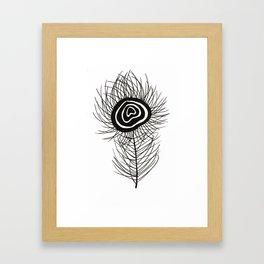 Peacock Feather Framed Art Print