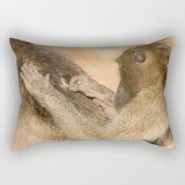 Grooming Baboons Rectangular Pillow