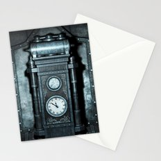 Silver Steampunk Generator Machine Stationery Cards