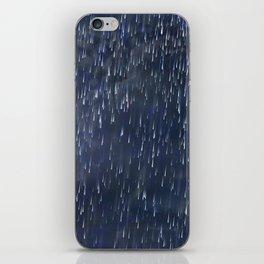 Raining Blue iPhone Skin