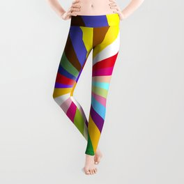 Bright Ray Background Leggings