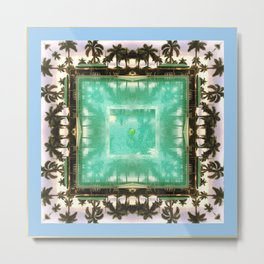 across the universe: palm isles mandala Metal Print