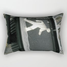Walk Through Snow Rectangular Pillow