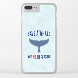 Save a Whale Clear iPhone Case