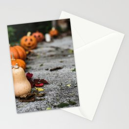 Pumpkin, Ground And Pathways, Candle Stationery Cards