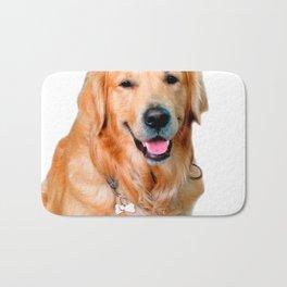 Beautiful Dog Golden Retriever and Your Bone Bath Mat