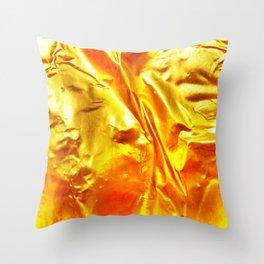 Golden Fabric Throw Pillow