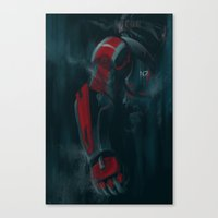 n7 Canvas Prints featuring N7 by crimm-art