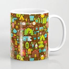 Hiking Patterns | Wanderlust Camping Nature Coffee Mug