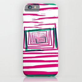 Pink Paint abstract pattern stripes iPhone Case