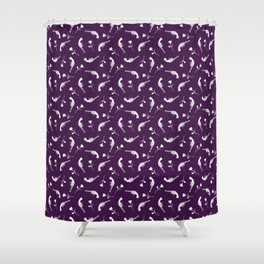 Roses & Revolvers // Plum Shower Curtain