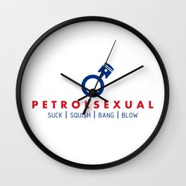PETROLSEXUAL v5 HQvector Wall Clock