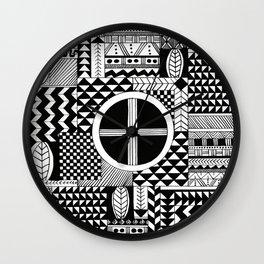 Pattern Blocks Wall Clock