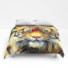 Fantazi (Tiger is Not Amused II) Comforters