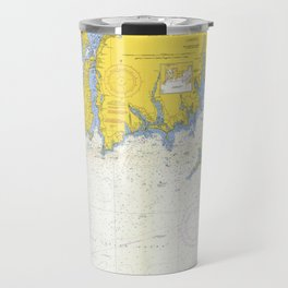 Vintage Buzzards Bay, Vineyard Sound and Coastal RI Map Travel Mug
