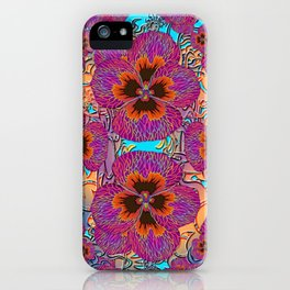 The Lost Pansy Flower Forest iPhone Case