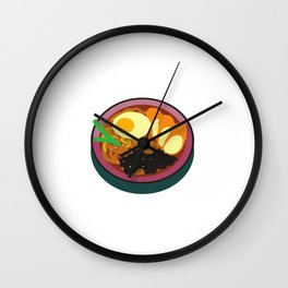 Japanese Food- Ramen With Egg Wall Clock