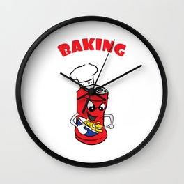 "Cute and fabulous ""Baking Soda"" tee design. Makes a unique and cute gift to your friends too!  Wall Clock"