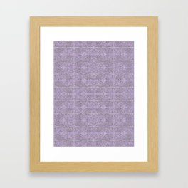 Embossed Feather - Chic Lilac Framed Art Print