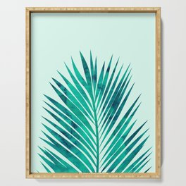 Composition tropical leaves XV Serving Tray