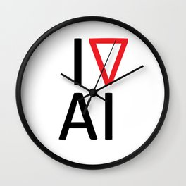 I love artificial intelligence Wall Clock