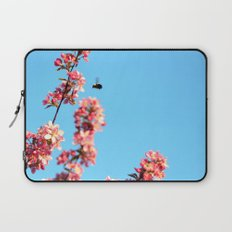 Pink flowers With Bee Laptop Sleeve
