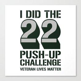 22 Push-Up Challenge Canvas Print