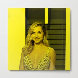 Ana de Armas - Celebrity (Photographic Art) Metal Print