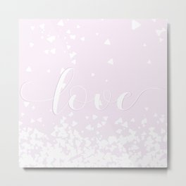Delicate Love Rose Pink Glitter Design Metal Print
