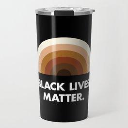 Black Lives Matter Rainbow Travel Mug
