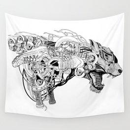 Roaring beast Wall Tapestry