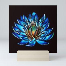 Multi Eyed Blue Water Lily Flower Mini Art Print