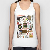 tenenbaums Tank Tops featuring The Royal Tenenbaums by Shanti Draws