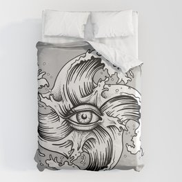 WITHIN THE EYE OF THE STORM Duvet Cover