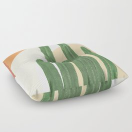 Abstract Cactus I Floor Pillow