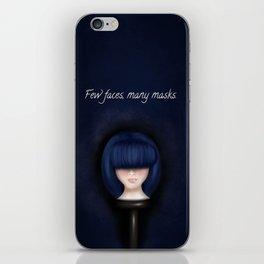 Few faces, many masks. iPhone Skin