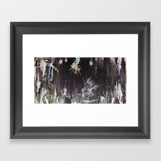 Black and White and a Rubin Framed Art Print