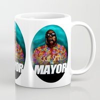biggie smalls Mugs featuring Biggie Smalls for Mayor by Tom Brodie-Browne