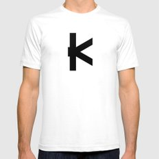 K - Alphabet White Mens Fitted Tee SMALL