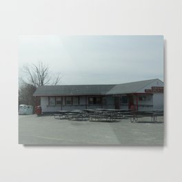 Clam Box Metal Print