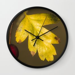 Red and yellow #2 Wall Clock