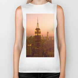Empire State Building, Manhattan, NYC Skyline, I Love New York, Cityscape Biker Tank
