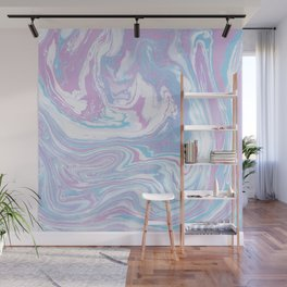 Iridescent marble watercolor Wall Mural