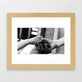 Childhood memories b/w Framed Art Print