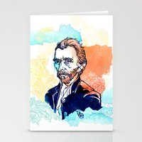 van gogh Stationery Cards featuring Van Gogh by Jon Cain